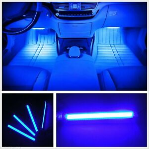 4 x 12 LED strip lights interior footwell boot build atmosphere neon decor 12v