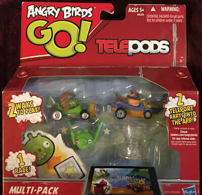 ANGRY BIRDS GO TELEPODS MULTI-PACK MOSTACHE PIGS /& EXL ORANGE BIRD NEW IN BOX!