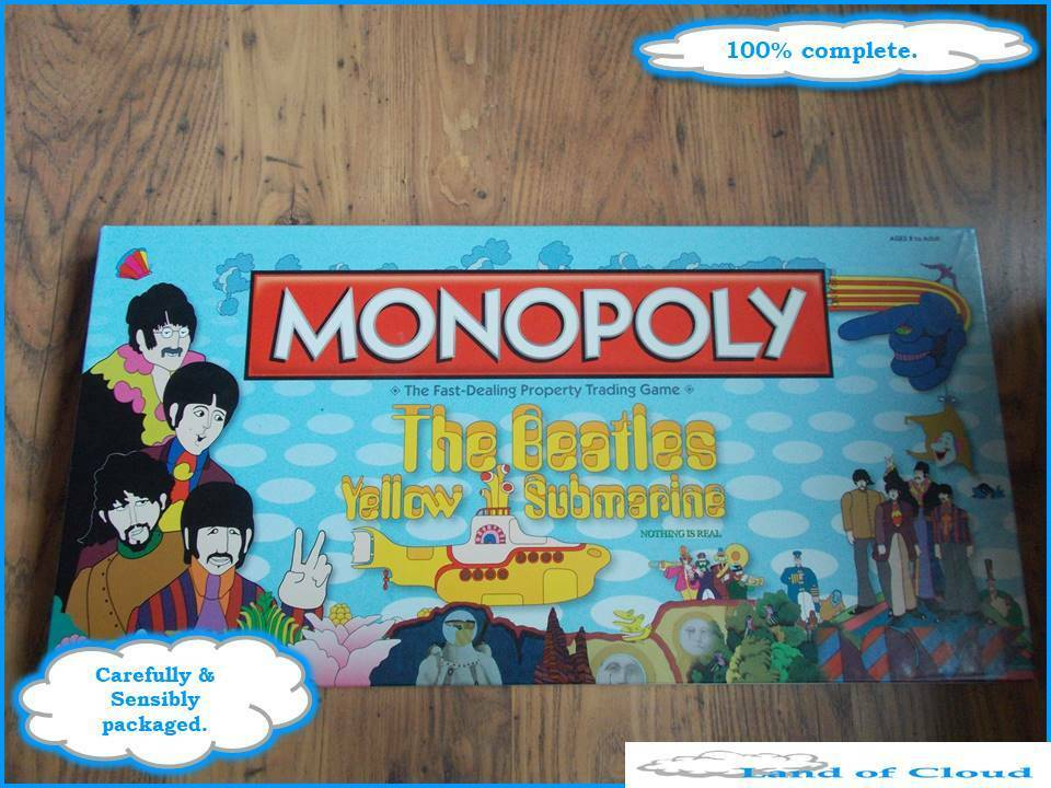 Monopoly The Beatles Yellow Submarine edition USAopoly FAST POST