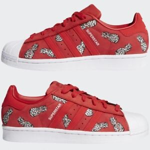 on sale 9c631 e61f5 Image is loading Women-039-s-Adidas-Superstar-Shoes-Scarlet-NEW-