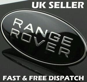 Range Rover Noir & Argent Sport Avant Grille Badge Land Rover Noir Custom-afficher Le Titre D'origine Buvu46fx-07232049-228786706