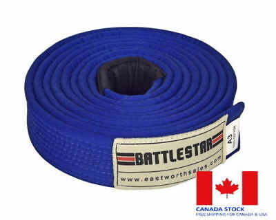 BLUE Jiu Jitsu BJJ Belt 100/% Cotton Pro Quality IBJJF Standard by BATTLESTAR