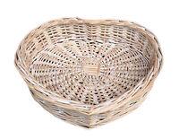 Heart Shaped Wicker  Basket Large Small Bathroom Home Wicker Storage Wedding