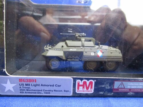 AF857 HM HOBBY MASTER US M8 LIGHT ARMORED CAR 1945 1/72 HG3801 WWII