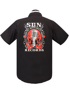 New /& All Sizes. Sun Records Official Steady Rockabilly Music Work Shirt
