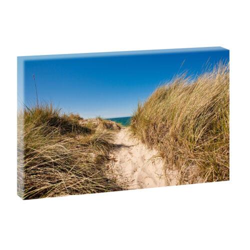 Strand/&Meer Nordsee Dünen Landschaften Leinwand Bild Keilrahmen Kunstdruck  693