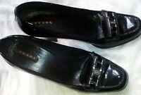 scarpe prada originali donna nero pelle laccata 39 made in Italy usato perfetto