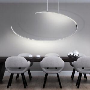 LED-27W-Pendentif-Lampe-Plafonnier-Projecteur-Chrome-Lumiere-courbe-EEK-A-WOFI