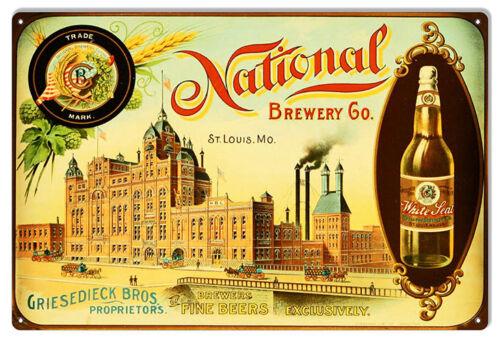 Sign 12×18 Nostalgic Bar Or Restaurant National Brewery Co
