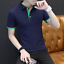 Cotton-Men-039-s-Fashion-Slim-Short-Sleeve-Shirts-T-shirt-Casual-Tops-Blouse-Top thumbnail 3