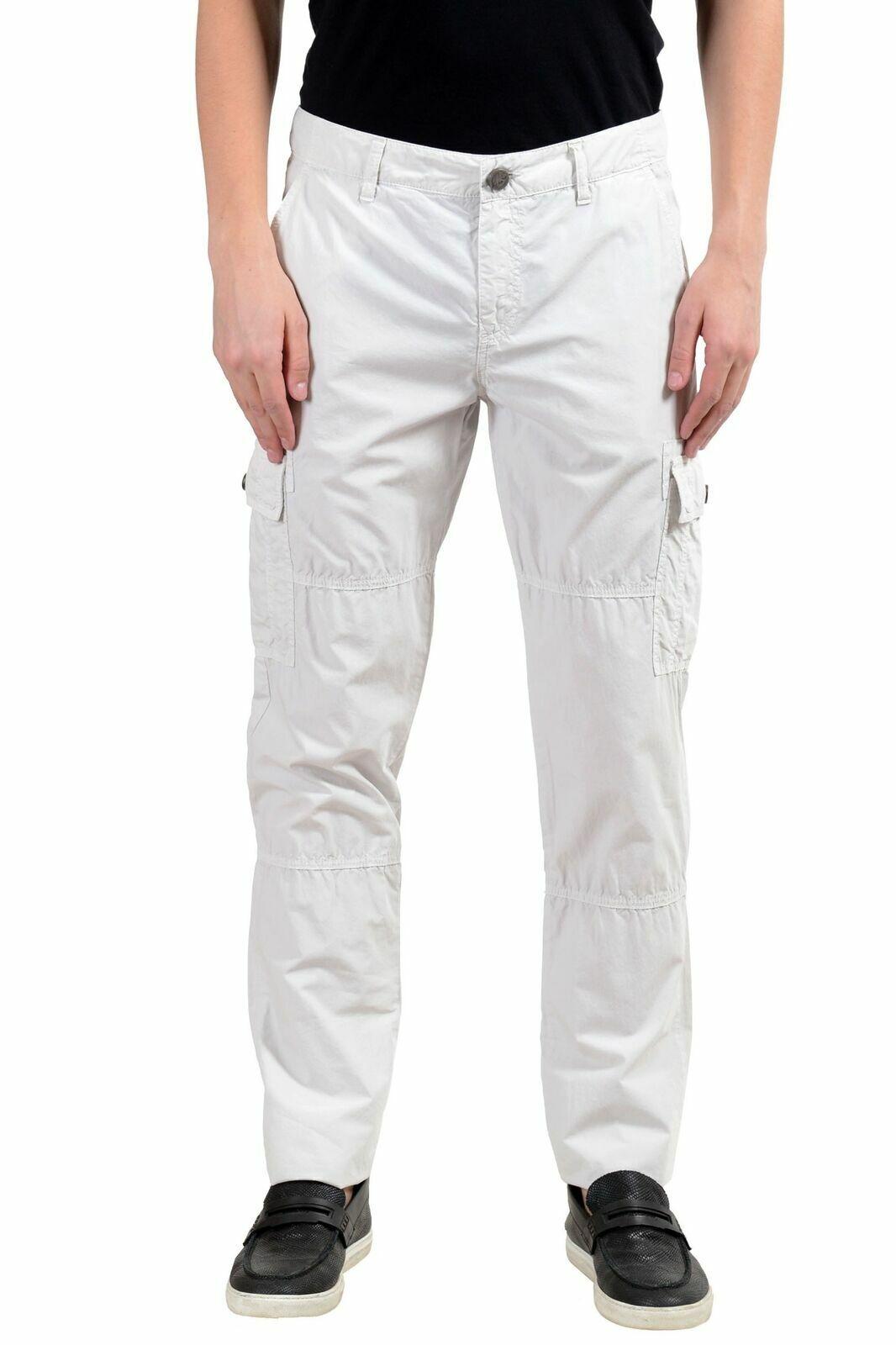 Versace Jeans men Avorio Pantaloni Militari USA 32