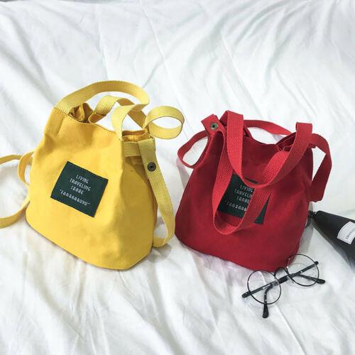 Women/'s Canvas Handbag Shoulder Bag Messenger Bag Ladies Wallet Satchel Purse