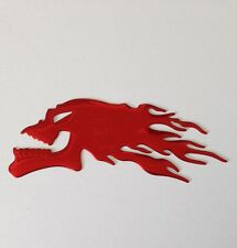 RED Flaming Devil Fire Skull 3D Car Sticker Badge Decal Emblem Art - UK Seller