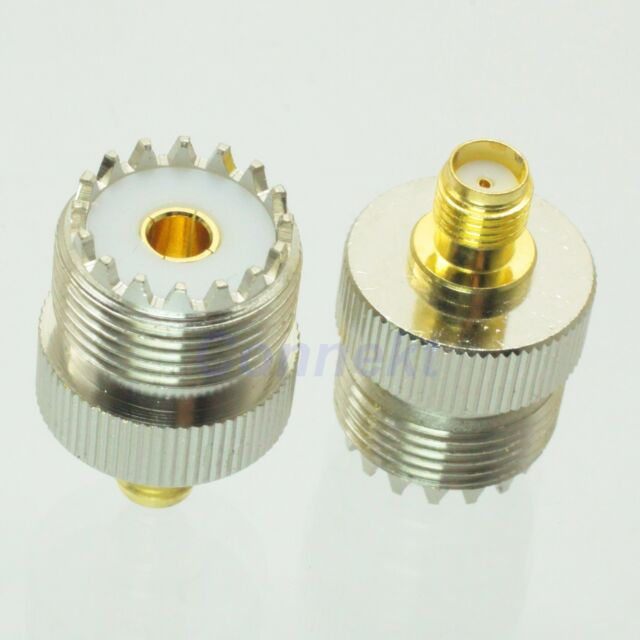 1pce UHF female jack to SMA female jack RF coaxial adapter connector