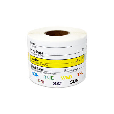 Shelf Life Stickers for Meal Preparation 45x20mm Details about  /Food Storage Stickers Labels