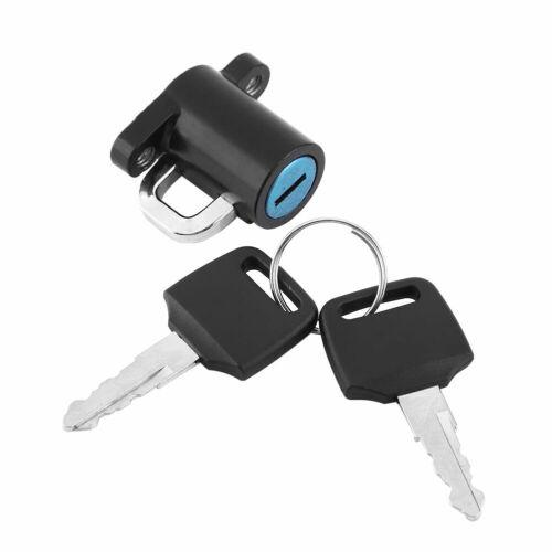 Universal Motorcycle Motorbike Helmet Lock Hanger Hook /& 2 Keys Set Durable US