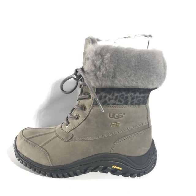 4b851071f0e Ugg Adirondack II Exotic Winter Snow Charcoal Gray Color Boot Size 8