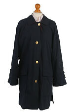 Burberry Trench Coat Classic Mac Vintage Raincoat Jacket Navy Chest 50'' BR525