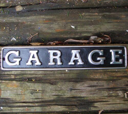 GARAGE sign garage cast signMEDIUM aluminium garage mancave shed workshop VAC139