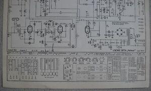 LOEWE OPTA Typ 780 W Meteor Schaltplan Ausgabe 1, Stand 03/55