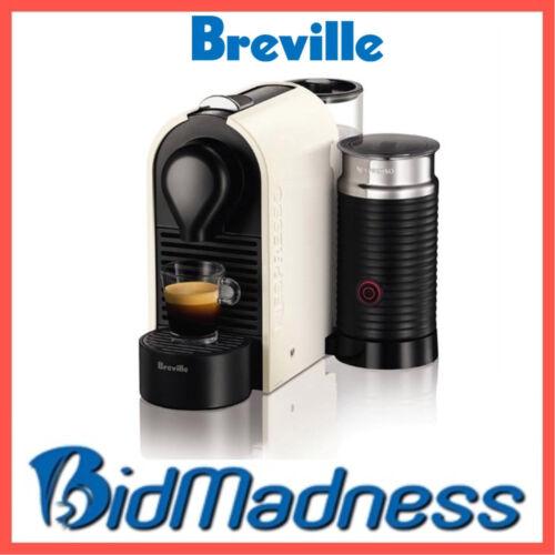 1 of 1 - BREVILLE BEC300MW UMILK NESPRESSO COFFEE MACHINE - PURE WHITE    2 YR WNTY