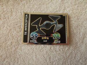 Topps-Star-Wars-Force-Attax-034-TIE-INTERCEPTOR-034-181-Galactic-Empire-Card