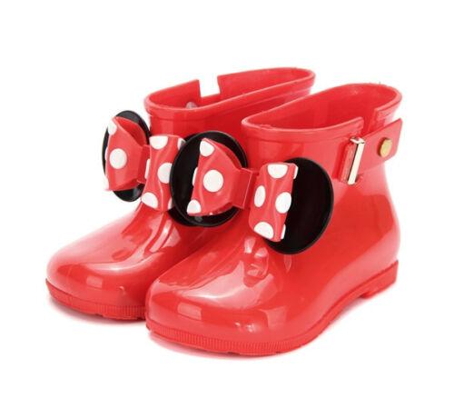 MICKEY MOUSE 2019 Kid Rain Boot Butterfly Girl Boy Waterproof New Non Slip