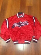 90s VTG Rare Cleveland Indians Red Diamond Collection Retro Starter Jacket Tribe
