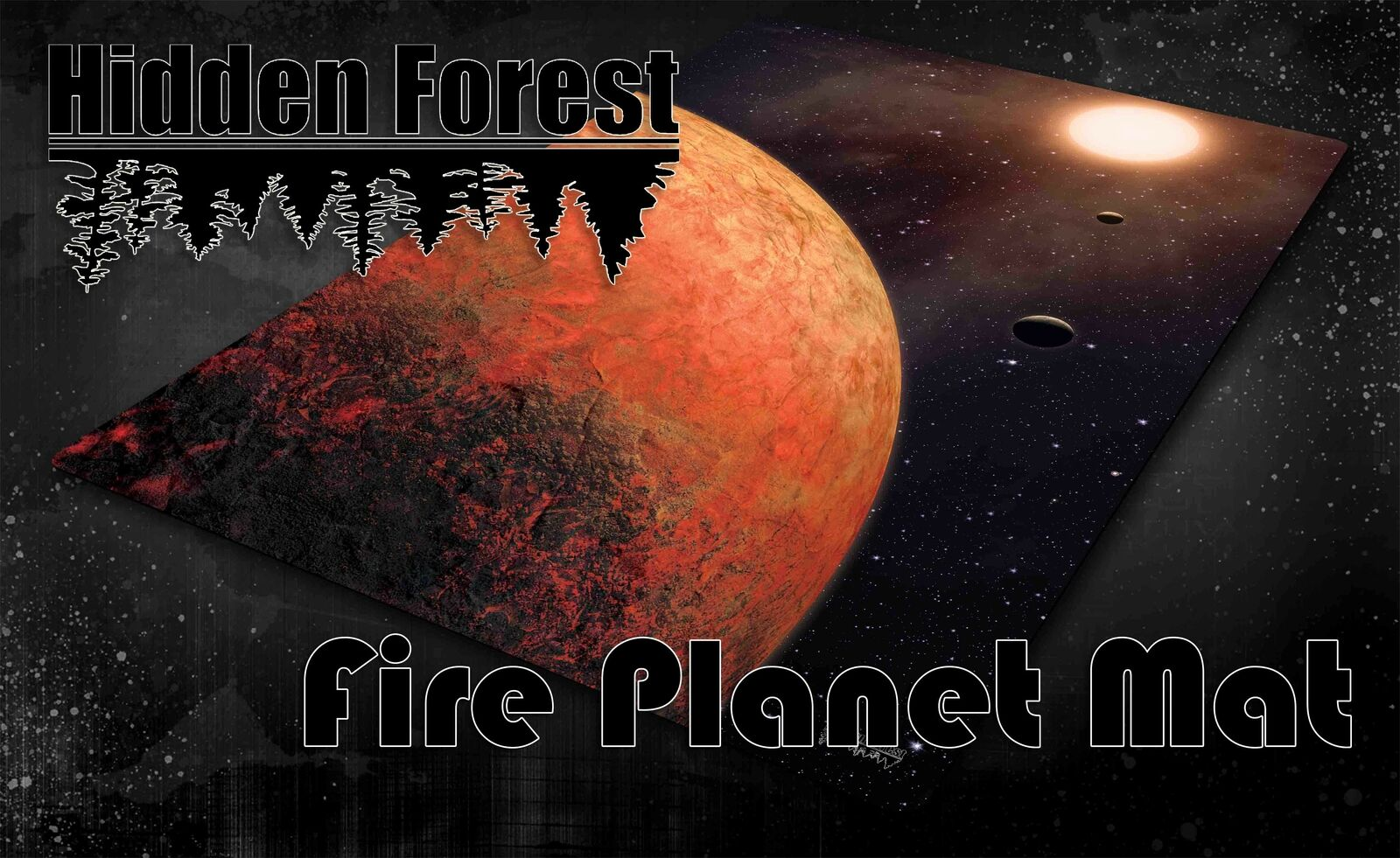 HiddenForest Space Gaming Mat Fire Planet (Mustafar) Star Wars X-Wing and Armada