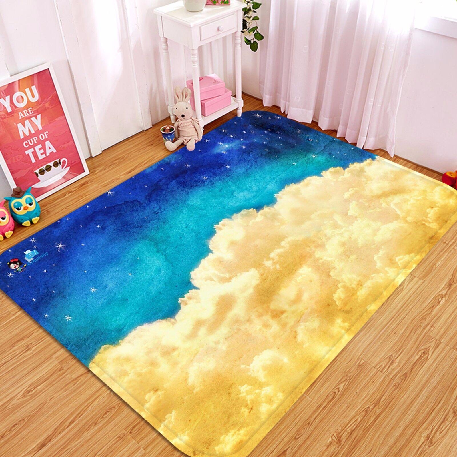 NUVOLE di vista 3D 48 tappetino antiscivolo tappeto camera Tappetino Qualità Elegante foto Tappeto UK