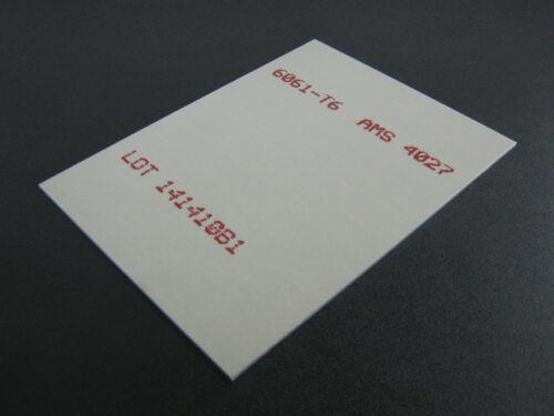 """.090 Aluminum Sheet 6061 4/"""" x 10/"""""""
