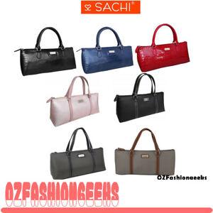Sachi Insulated Wine Purse Cooler Tote Bag Black