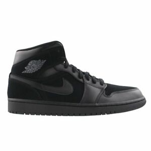 New Nike Air Jordan 1 Mid BG Black Dark Grey-Black 554725-050 ... b3b273420