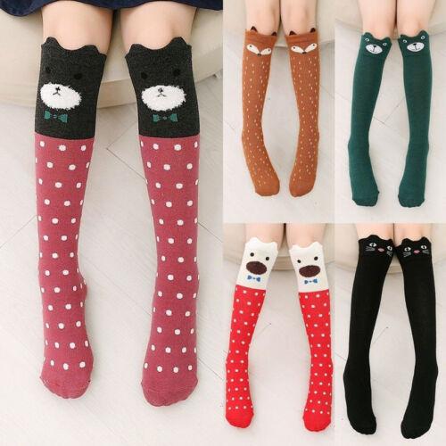 New Children Kawaii 3D Cartoon Animal Thigh Stockings Over Knee High Long Socks