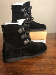 ea921aa2505 Details about Ugg Elvi Women Boots Black Size 5 NEW* 100% AUTHENTIC With  Box 1017534.