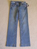 Women's Inc Straight Leg Full Length Distressed Blue Jeans (pants) Size 2