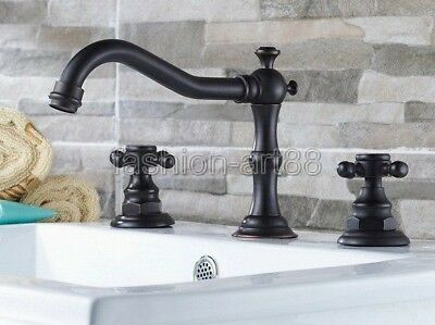 Oil Rubbed Bronze Bamboo Style Single Lever Bath Sink Faucet Mixer Tap fnf221