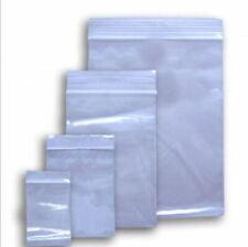 Grip Seal Bags Clear Poly Plastic Resealable Zip Lock Baggies Small Large Medium