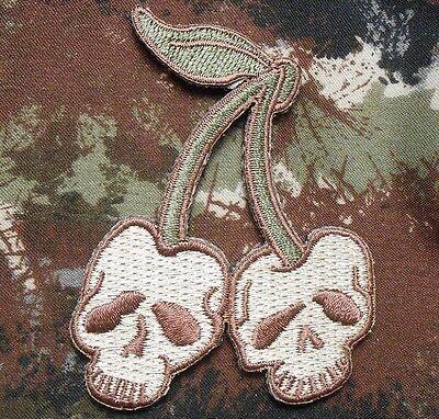 DEATH SKULL TACTICAL CHERRIES MILITARY MULTICAM VELCRO® BRAND FASTENER PATCH