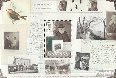Punctual Gibraltar Block90 Mint Never Hinged Mnh 2009 Charles Darwin To Prevent And Cure Diseases