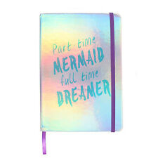 attitude clothing iridescent a5 part time mermaid notebook lined