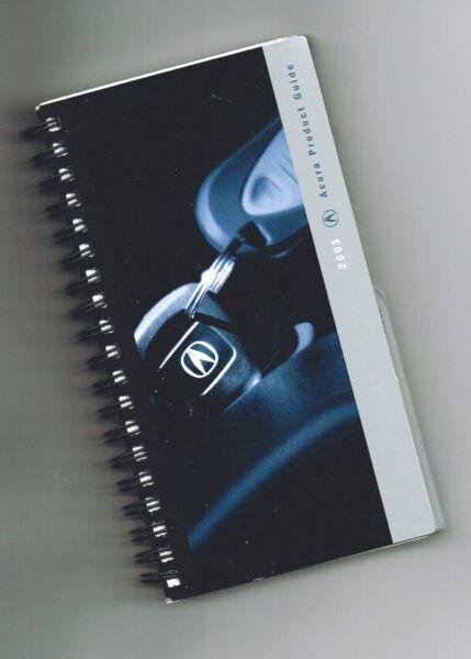2003 Acura Venditore / Solo Tasca Prodotto Guida Brochure: Nsx , Mdx, Rl, Tl, Cl
