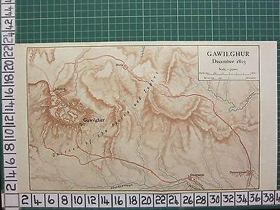 Constructive Map/battle Plan ~ Gawilghur Dec 1803 Deogaum Damergaum Labada Antiques World Maps