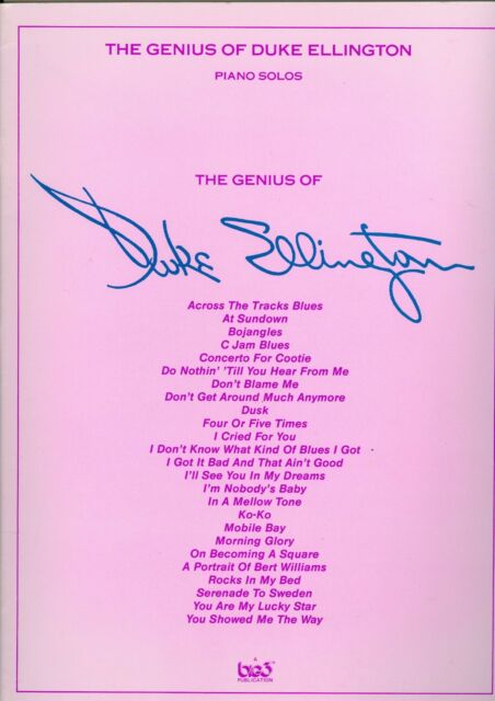The Genius of Duke Ellington piano solos sheet music solo