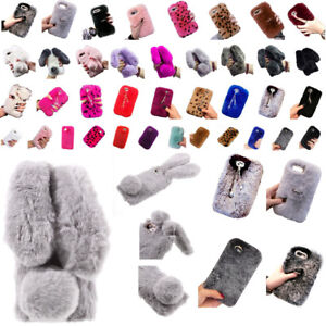 100% authentic 5e0a5 a1aed Details about PRETTY PINK Fur Furry Bunny Rabbit Bling Covers For APPLE  iPhone X/8/7/6/6S/5 PL