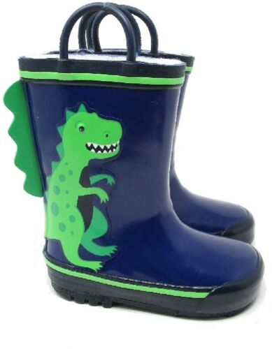 KIDS CHILDRENS DINOSAUR SNOW RAIN WELLINGTON BOYS WATERPROOF WELLIES BOOTS SIZE