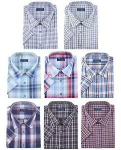 Mens-Tom-Hagan-Papa-Shirt-King-Size-Check-Pattern-Casual-Formal-3XL-4XL-5XL-6XL