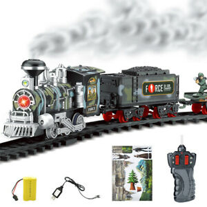 Classic-rechargeable-electric-remote-control-steam-trains-children-039-s-toys-suit