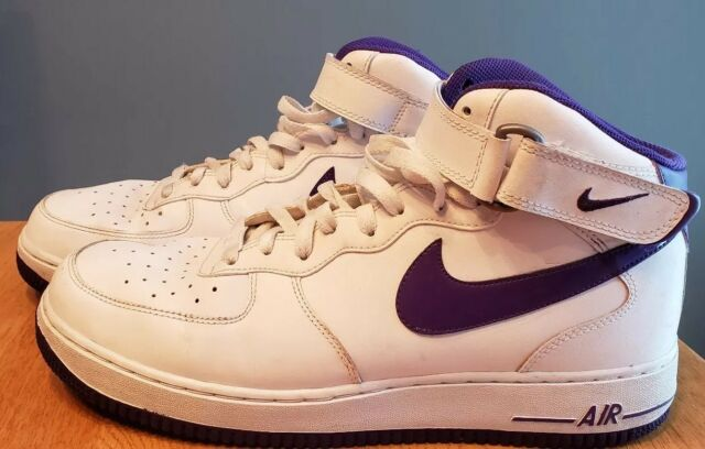 cd5f1be964 Nike Mens Shoes Size 13 Air Force 1 Af1-82 Mid-top Sneaker Purple White for  sale online | eBay