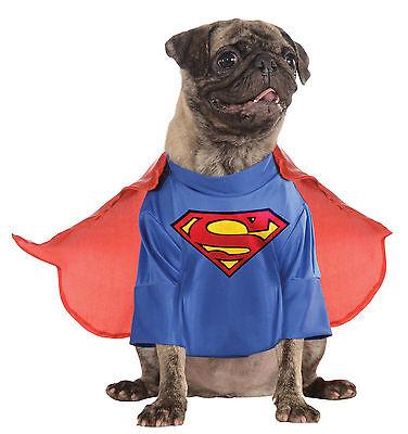 DC Comics Superman Pet Dog Doggy Fancy Dress Up Funny Cute Costume,